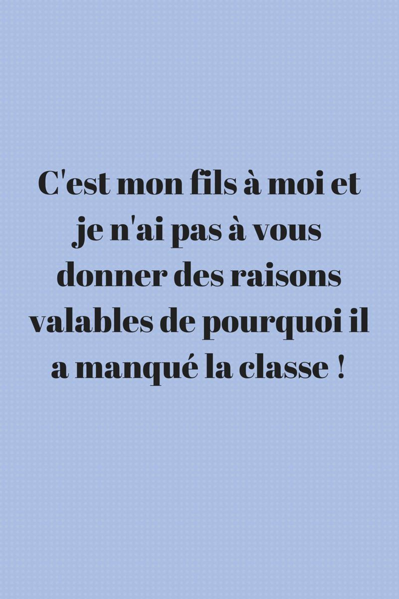 Mots D Excuse Pour L école Mon Cahier D écolier